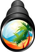 Signo de viajes de verano — Vector de stock
