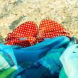 Summer shoes on sand — Stock Photo