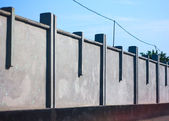 Landscape concrete fence — Stock Photo