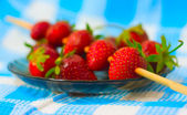 Strawberry barbecue on plate — Стоковое фото