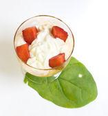 Dessert fragola — Foto Stock