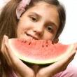 Royalty-Free Stock Photo: Girl eat watermelon