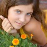 Portrait girl outdoor — Stock Photo #2310967