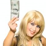 Portrait girl show dollar — Stock Photo #2311176