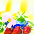 Strawberry Background — Stock Photo