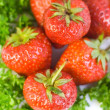 Strawberries background — Stok fotoğraf
