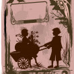 ビンテージ バレンタイン カード — ストックベクタ