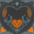 Royalty-Free Stock Vectorafbeeldingen: Valentine retro label