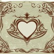 Vector de stock : Valentine's label