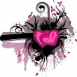 Royalty-Free Stock Vector Image: Valentine\'s grunge background