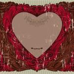 Valentine's vintage frame — Stock Vector #1456567