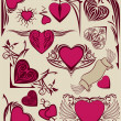 Valentine design elements — Image vectorielle