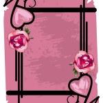 Valentine's floral frame — Stock Vector