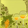 White wine - Stock Vector