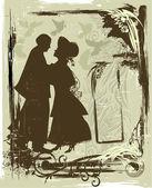 Carte de valentine vintage — Vecteur