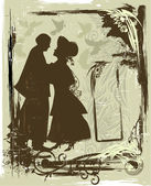 Tarjeta de san valentín vintage — Vector de stock