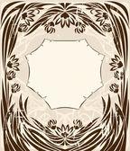 винтажная рамка с цветами — Cтоковый вектор