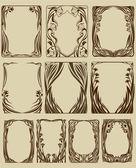 Conjunto de quadros — Vetorial Stock