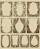 Set frames — Stockvector