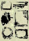 组 grunge 框架 — 图库矢量图片