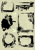 Set of grunge frames — Vector de stock