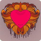 Valentine's label — Vetor de Stock