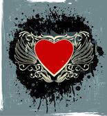 Valentine's gruge label — Vetor de Stock