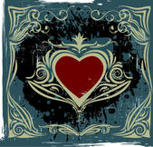 Valentine's gruge label — Stock Vector