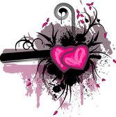Valentine's grunge background — Vector de stock