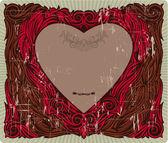 Valentine's vintage frame — ストックベクタ