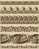 Skroll 飾りセット — ストックベクタ