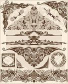 Conjunto de elementos de diseño — Vector de stock