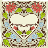 Floral valentine frame — Stock Vector