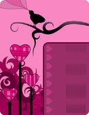 バレンタインの背景 — ストックベクタ