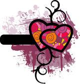 Valentine's grunge background — Stock Vector