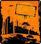 Grunge urban background — Stock Vector