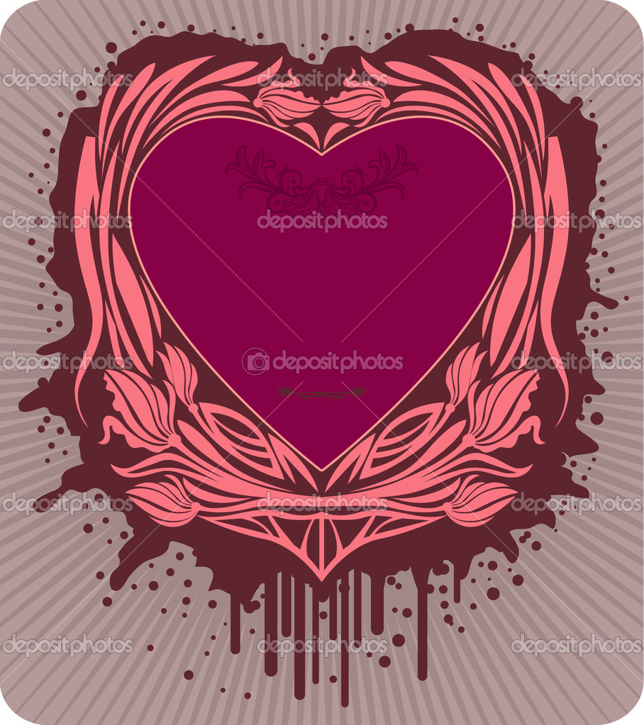 Vector label with the heart, saved as eps8. — Stock Vector #1456414