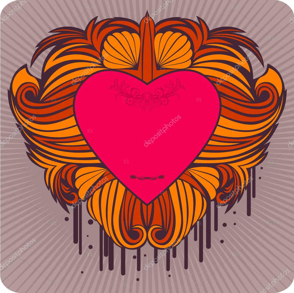 Vector label with the heart, saved as eps8. — Stock Vector #1456433