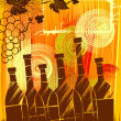 The autumnal wine — Stock Vector