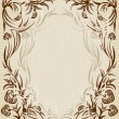 Stock Vector: Vintage frame with the flowers