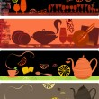 Template designs of cafe banners - Stockvectorbeeld