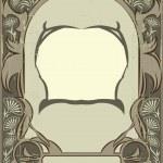 Art nouveau frame — Stock Vector #1460569