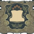 Art nouveau frame with the poppies - Imagen vectorial