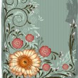 Vector de stock : Vintage floral background