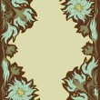 Vector de stock : Vintage frame with flowers
