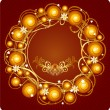 Christmas wreath — Stockvector #1463970
