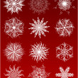 The snowflakes set — Stock Vector