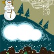 Christmas card with the snowmen — Stock Vector
