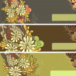 Floral horizontal banners — Stock Vector