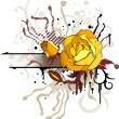 Abstract floral background with the rose - Stok Vektr